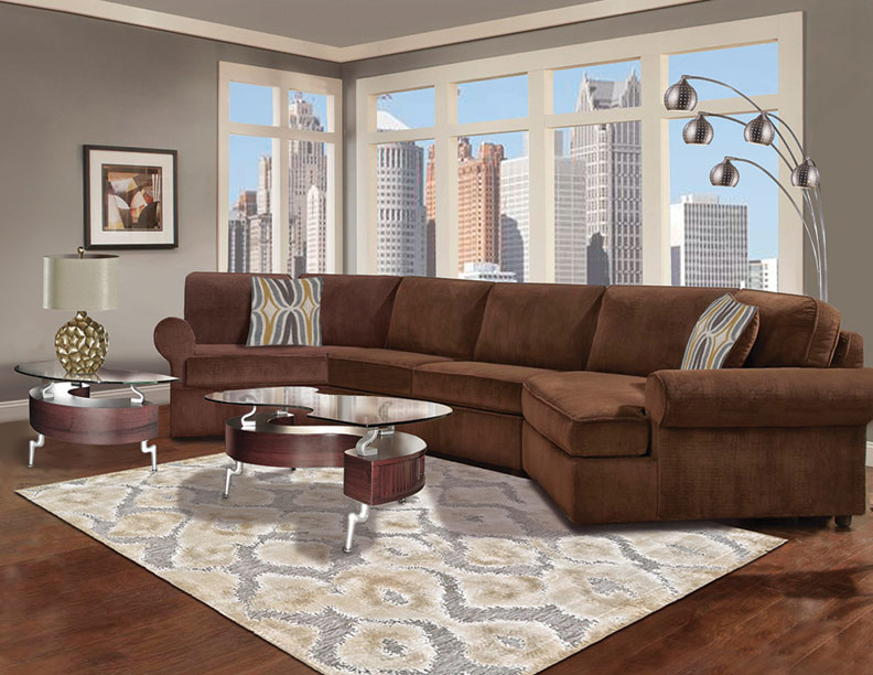 Six Piece Double Cuddler Sectional Furniture Package
