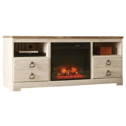 Picture of ASHLEY W267-68-TV-STAND-&-FIREPLACE