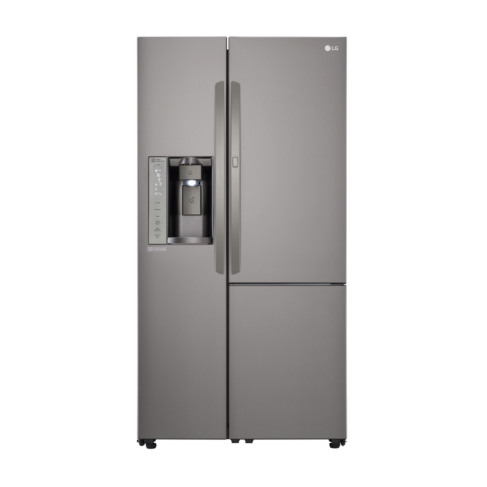 LG Black Stainless Steel Side by Side Refrigerator