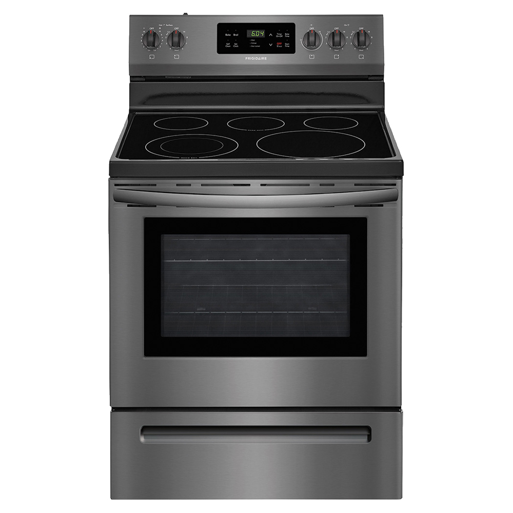 Electric Range with Glass Top Surface