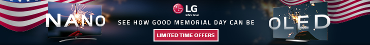 LG Memorial Day Limited Time offers banner