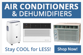 Air conditioners and dehumidifiers.