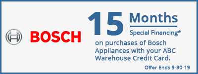15 Months Special Financing on Bosch
