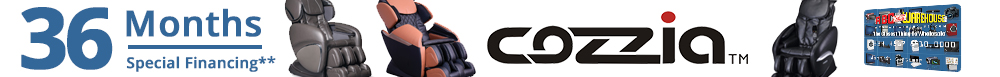 36 Months Special Financing on Cozzia Massage Chairs