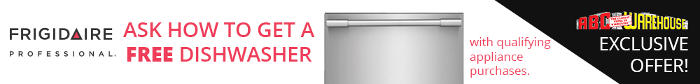 Frigidaire Professional. Ask How to get a free dishwasher with qualifying appliance purchase