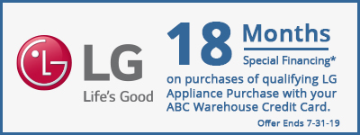 18 Months Special Financing on LG Appliances