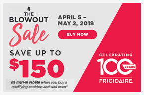 Frigidaire Blowout Sale! Save up to $150