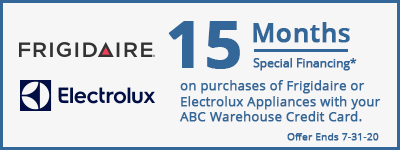 15 Months Special Financing Frigidaire or Electrolux Appliances!