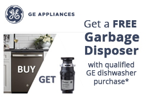 GE Get A Free Garbage Disposer with qualified GE dishwasher purchase