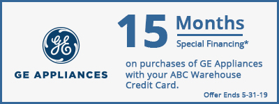 15 Months Special Financing GE Appliances