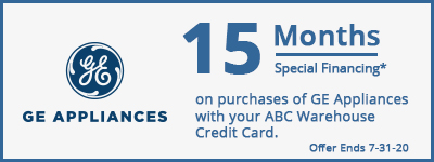 15 Months Special Financing on G.E Appliances