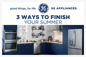 GE 3 ways to finish your summer! Receive up to $524 rebate