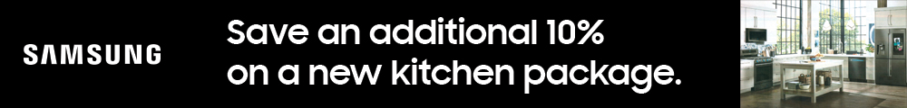 Samsung Save an additional 10% on a new kitchen package