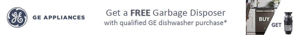 GE Appliances Get a Free Garbage Disposer when you buy a G.E. profile or G.E. Cafe Stainless tub dishwasher