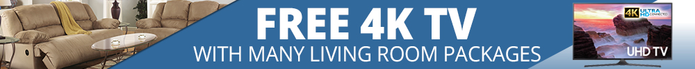 Free 4K TV with many Living Room packages