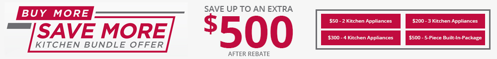 LG Buy More, Save More Kitchen Bundle Offer. Save up to an extra $500 After Rebate.