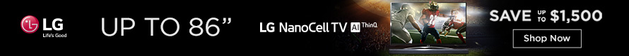 "LG Nano Cell Up to 86"" Banner"