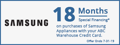 18 Months Special Financing on Samsung Appliances