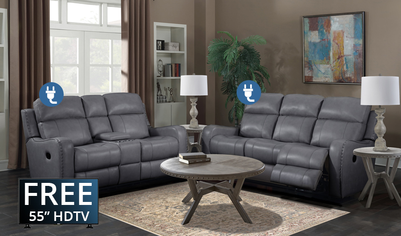 The irving collection power with love seat