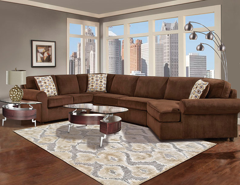 Wonderful Six Piece Cuddler Sectional Furniture Package