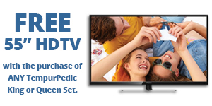 Free TV with any TempurPedic King or Queen Set