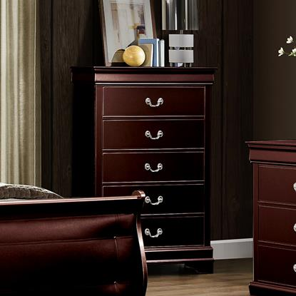 Picture of GLOBAL MARLEY-MERLOT-5-DRAWER-CHEST