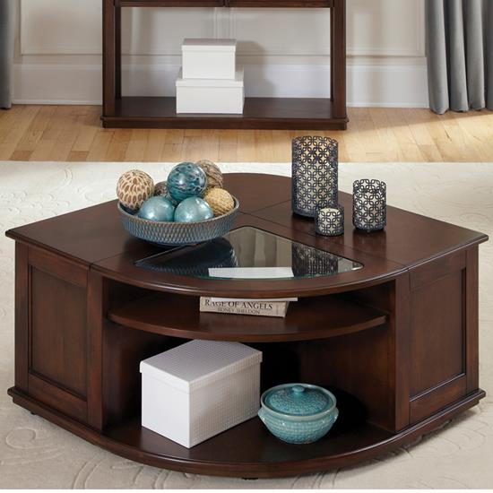 Picture of LIBERT FURNITURE 424-OT1010-WEDGE-COCKTAIL/LIFT