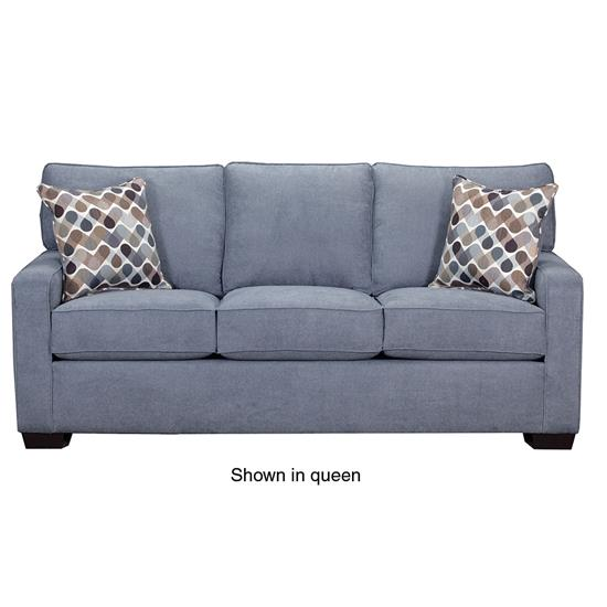 Simmons Sleeper Sofa: SIMMONS UPHOLSTERY 9025-MINI-SLEEPER-SOFA-DENIM ABC Warehouse