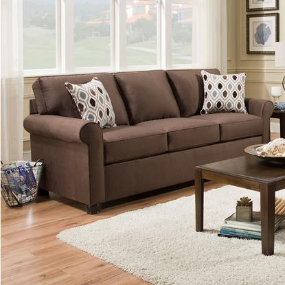 Picture of SIMMONS UPHOLSTERY 1530-QUEEN-SLEEPER-SOFA-CHOCOL