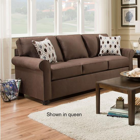 Picture of SIMMONS UPHOLSTERY 1530-MINI-SLEEPER-SOFA-CHOCOLA