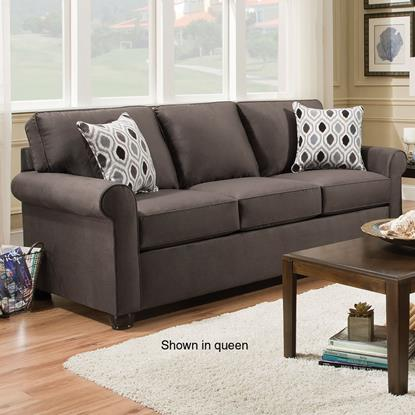 Picture of SIMMONS UPHOLSTERY 1530-FULL-SLEEPER-SOFA-SMOKE