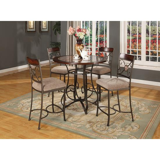 Picture of LIFESTYLE ENTERPRISE CHAPS-4PC-PUB-SET-DINING-PKG