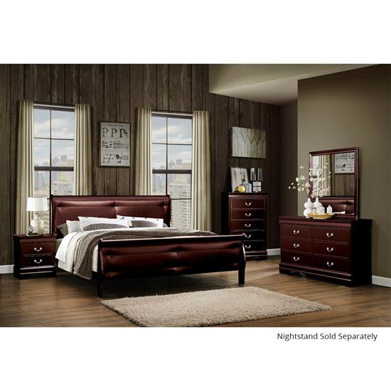 Picture of GLOBAL MARLEY-MERLOT-(6)PC-BEDROOMPKG