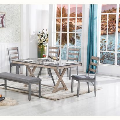 Picture of LIFESTYLE ENTERPRISE GRAND-TOUR-TABLE-BENCH-4CHAIRS