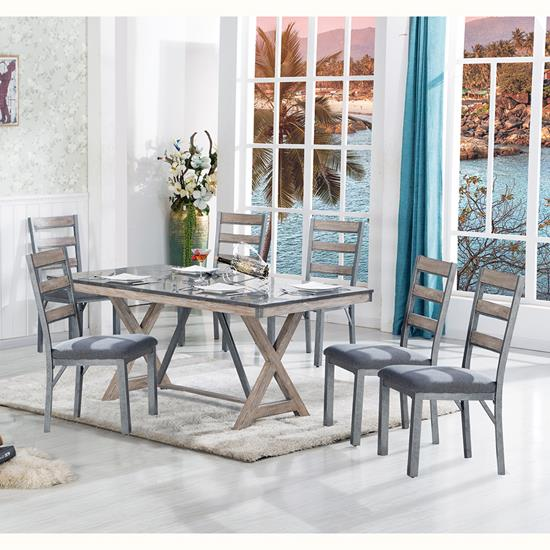 Picture of LIFESTYLE ENTERPRISE GRAND-TOUR-TABLE-&-(6)CHAIRS