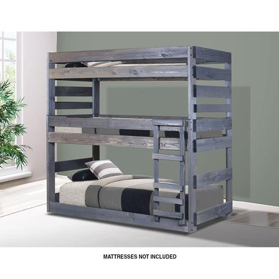 Picture of PINE CRAFTER FURNITURE TRIPLE-TWIN/TWIN/TWIN-BUNK-BED
