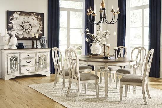 Picture of ASHLEY REALYN-7PC-DINING-PACKAGE