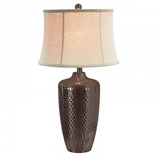 Picture of ANTHONY CALIFORNIA M1869OB-HAMMERED-METAL-LAMP-x1