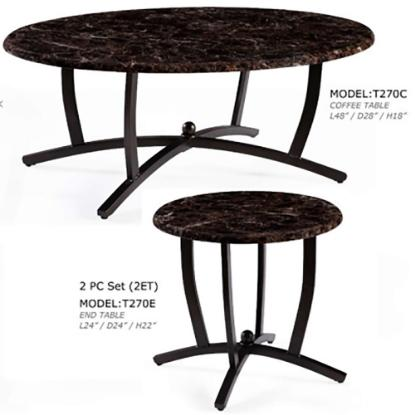 Picture of GLOBAL T270C-OVAL-COCKTAIL-TABLE