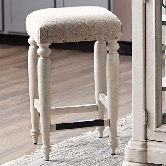 Picture of KLAUSSNER 749-924STOOL-COUNTER-STOOL-WHT