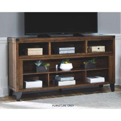 "Picture of ASHLEY W765-68-(BRWN)-65""-TV-STAND"