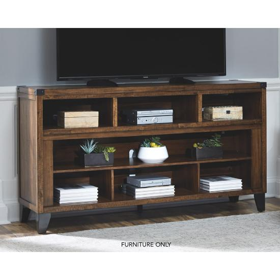 """Picture of ASHLEY W765-68-(BRWN)-65""""-TV-STAND"""