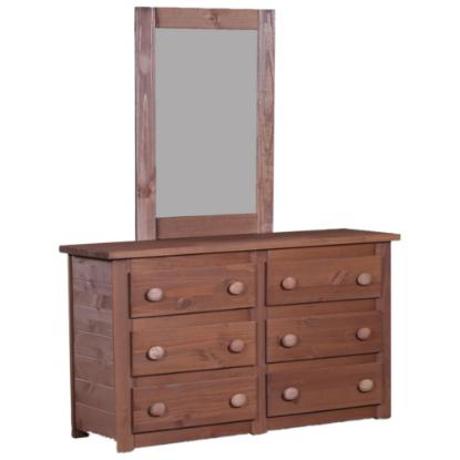 Picture of PINE CRAFTER FURNITURE MAH-4956-SIX-DRAWER-DRESSER
