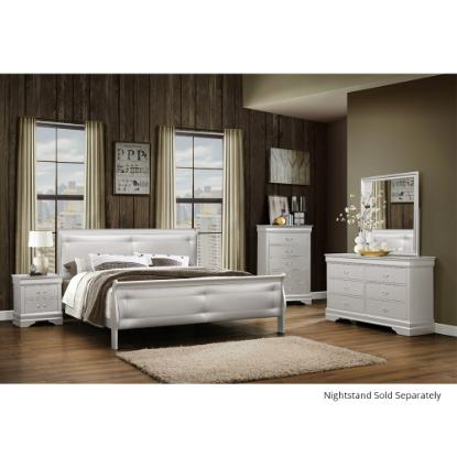 Picture of GLOBAL MARLEY-SILVER(6)PC-BEDROOM-PKG