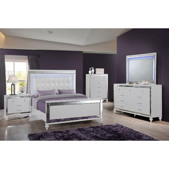 Picture of NEW CLASSIC VALENTINO-QUEEN-6PC-BEDROOMPKG