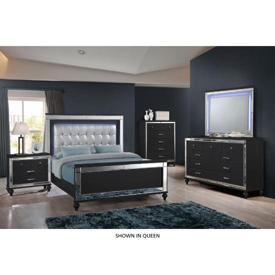 Picture of NEW CLASSIC VALENTINO-KING-6PC-BEDROOM-PKG