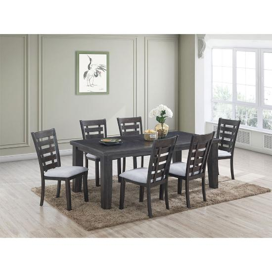 Cosmos Furniture Inc Bailey 7pc Dining Package Abc Warehouse