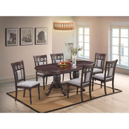 Picture of COSMOS FURNITURE INC LAKEWOOD-7PC-DINING-PACKAGE