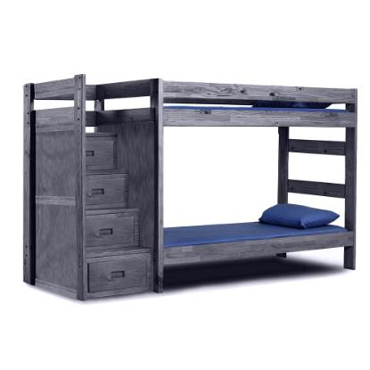 Picture of PINE CRAFTER FURNITURE TWIN/TWIN-STAIRCASE-BUNK-(WAL)