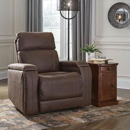 Picture of ASHLEY 5920413-THEATHER-CHAIR-WALNUT
